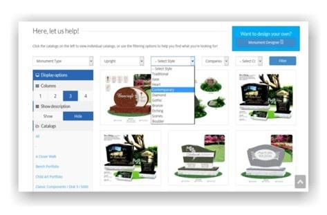 online catalog monument designer online design catalog about